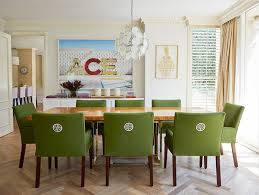 Chairs Glamorous Green Leather Dining Chairs Greenleather - Cushioned dining room chairs