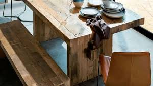 narrow dining room tables reclaimed wood reclaimed wood dining room table dining room sustainablepals