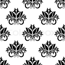stock vector of floral damask seamless pattern background with