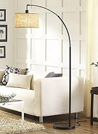 adesso arc floor l amazon com better homes and gardens burlap arc floor l bronze