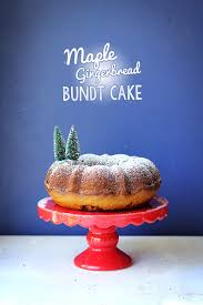 maple gingerbread bundt cake the sugar hit