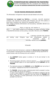 training agreement sample project vendor contract agreement