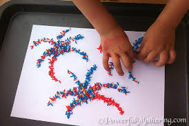 Craft Project Ideas For Kids - 4 july kids craft ideas color rice american flag and fireworks