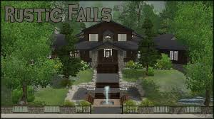 Rustic Home The Sims 3 Home Building Rustic Falls Youtube