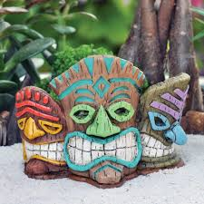 fairy garden miniature tiki mask statue mini dollhouse tiki