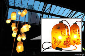 Lamps Made From Bottles Milkit Table Lamp Made Of Recycled Milk Bottles Green Design Blog