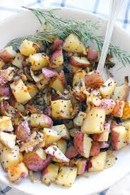 Ina Garten Roasted Vegetables by Roasted Potatoes And Onions With Rosemary And Mustard Bowl Of