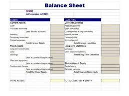 balance statement classified balance sheet template excel