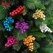 christmas tree decoracion 20x8cm stick insert ear leaf multicolor