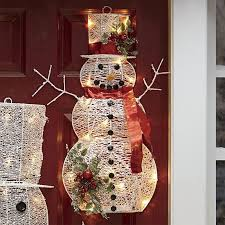 create a winter with snowman decorations