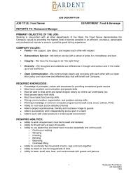 Sample Resume Objectives Janitor by How To Write A Resume For A Restaurant Job Splixioo