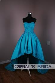 teal wedding dresses wd10580 f l190 hi lo teal taffeta wedding gown prom gown