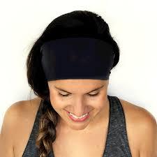 black headband black onyx solid headband