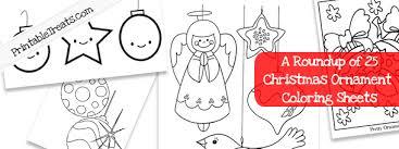 25 christmas ornament coloring sheets print u2014 printable treats