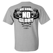 guns glory bodybuilding t shirt ironville clothing