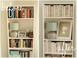 how to decorate a bookshelf decorating a bookcase in monochromatic papers hint only the