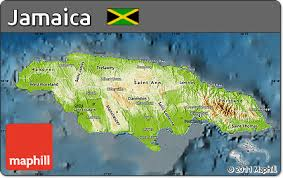 jamaica physical map free physical map of jamaica darken