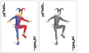Joker Playing Card Designs Sure Slip Cards Ivory Graphics Personalised Playing Cards
