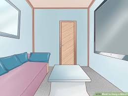 how to hang a mirror with pictures wikihow