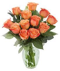 orange roses kabloom bouquet of 12 fresh cut orange roses