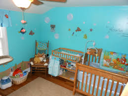 this is our finding nemo nursery we used valspar bayside for the