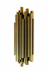 Art Deco Wall Lights Art Deco Wall Light Brass Fluorescent Handmade Brubeck