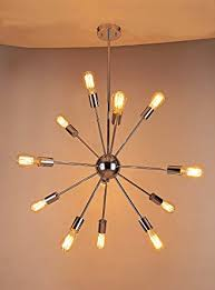 Vintage Sputnik Light Fixture Sputnik Chandelier Naturous 12 Lights Pendant Lighting Vintage