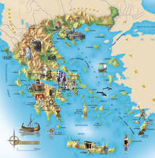touristic map of greece map map of greece and islands
