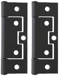 non mortise cabinet hinge pair of 3 non mortise cabinet hinges in flat black house of