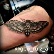deaths head moth tattoo meaning death moth tattoo by geo ruiz