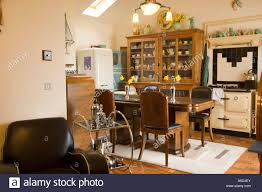 refurbished art deco 1930 s house interior kitchen and lounge