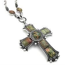 vintage cross necklace images Jonline24h mens womens vintage large gothic cross pendant necklace jpg