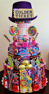 Candy Themed Centerpieces by Willy Wonka Candy Cake Willy Wonka Party Candy Centerpieces By