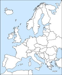 Blank Map Of Europe clipart europe outline
