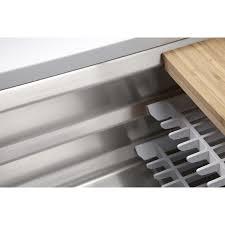 prolific stainless steel kitchen sink kohler k 5540 na prolific 33 undermount single bowl kitchen sink in