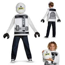 lego ninjago halloween costume boys lego ninjago movie zane halloween costume ebay