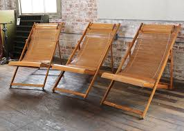 vintage bamboo wood japanese deck chairs outdoor fold up lounge