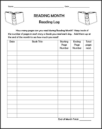 6 best images of monthly reading chart monthly reading chart