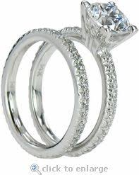 White Gold Cz Wedding Rings by 13 Best Cubic Zirconia Wedding Sets Images On Pinterest Wedding