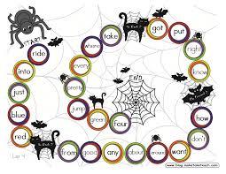 classroom freebies halloween sight word game board freebie