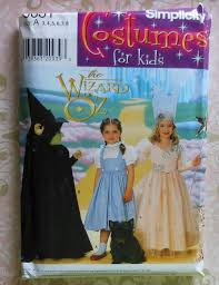 glenda good witch costume wizard of oz costume sewing pattern uncut simplicity 0631 sizes 3