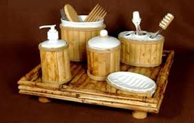 Bamboo Bathroom Accessories by Bamboo Bathroom Furniture Worries For A Zen Like Atmosphere In The