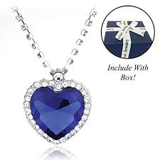 titanic blue necklace images My titanic necklace stunning heart of the ocean jpg