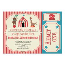 circus invitations announcements zazzle co uk