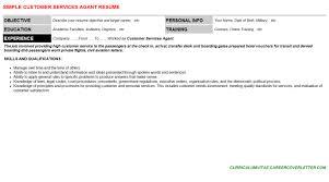 customer services agant cover letter u0026 resume
