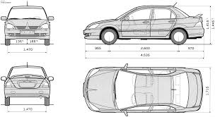 mitsubishi lancer cedia 2003 mitsubishi lancer cedia sedan blueprints free outlines