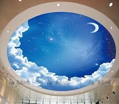 ceiling circular woven wallpaper ceiling wallpaper mural blue