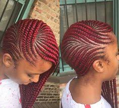 red cornrow braided hair hair of the day face hair style and protective styles