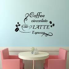 online get cheap italian decor aliexpress com alibaba group dctop coffee chocolate milk italian wall sticker diy home decor vinyl cup beans kitchen wall decals