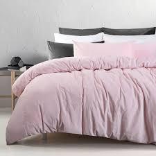 3 pce cotton velvet blush quilt doona duvet cover set queen king